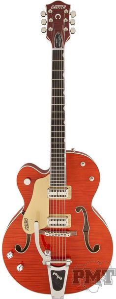 Gretsch // Gretsch G6120SSULH Setzer Nashville Left Handed Guitar - Orange Tiger - £3,149.00