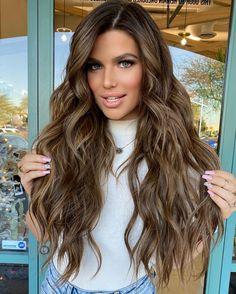 Brunette Highlights, Balayage Brunette, Hair Inspo, Hair Inspiration, Hair Contouring, Double Braid, Sleek Hairstyles, Hair Color And Cut, Big Hair