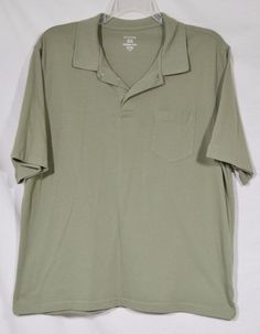GEORGE Men's Olive Green Polo Shirt XL Cotton/Polyester Blend Short Sleeves #George #PoloRugby