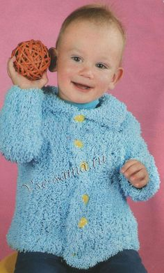 Голубой жакетик для ребенка, фото