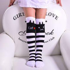Kids Knee High Junior Girls School Socks In 5 Colors Girls