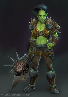 World of warcraft female orc nude