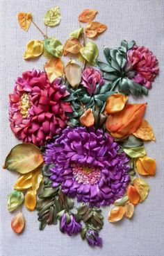 Gallery.ru / Дыхание осени - Вышивка лентами-7 - pskov-sveta This would be gorgeous on a hat. #millinery #judithm #hats