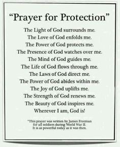 Prayer gor protection