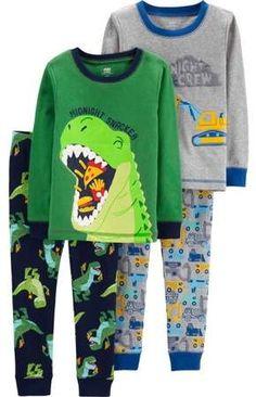 LIKESIDE Toddler Kids Baby Boys Girls Rocket Pajamas Sleepwear Tops Pants Outfits Set