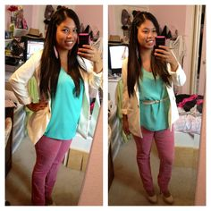 An outfit I wore to a casual interview... Pinterest-inspired! :)