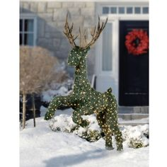 The Illuminated Jumping Topiary Reindeer - Hammacher Schlemmer