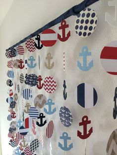 Nautical Anchor Paper Mobile Decor Wall Hanging on Etsy, $50.00