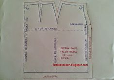 LO MIO ES COSER..... Y HACER PATRONES: Patrón base falda recta de una pieza Sewing Patterns, Couture, Personalized Items, Manga, Jeans, Dresses, Dish Towels, Skirt Patterns Sewing, Straight Skirt