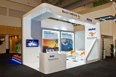 Rascom Star by Via Sat #expo stand at the #AfricaCom #Event, designed, manufactured and installed by 369.