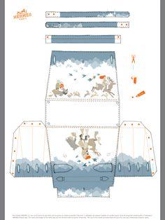 A romantic fall inspired Hermes illustrated Kelly paper handbag.