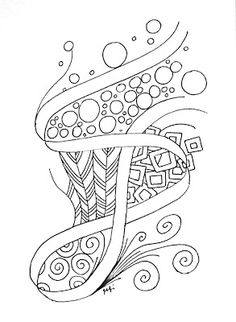 Fly Fly Blue Jay: Zentangle: Two-Pencil String