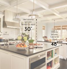 Idea for kitchen countertop using two different types of natural stone on the countertop porto - Kitchen island height standard ...