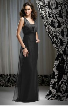 Black Column Strap Lace Up Floor Length Prom Dresses With Beading and