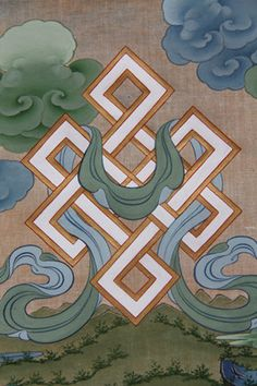 Tashi Dhargyal: Preserve Tibetan Art — The Knot from the Eight Auspicious Symbols by. Tibetan Mandala, Tibetan Art, Tibetan Buddhism, Craftsman Paintings, Tibetan Symbols, Buddhism Symbols, Obey Art, Thangka Painting, Wheel Of Life