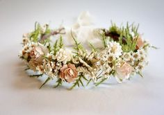 Hey, I found this really awesome Etsy listing at https://www.etsy.com/listing/270662796/bridal-flower-crown-blush-wedding-dried