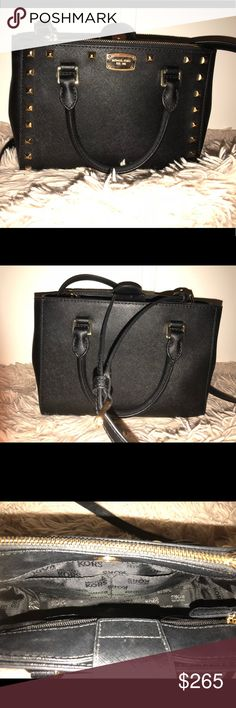 New Michael Kors leather handbag Medium/small leather bag with gold details and studs. Comes with long adjustable strap. Brand new. Bags Shoulder Bags