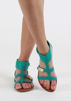 Gladiator Sandal #teal #sandals