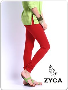 ZYCA LEGGINGS  Balanced tailoring with 95% cotton and 5% Spandex which gives perfect fit to your legs.