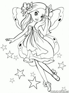 These free printable coloring pages for girls are available with fun drawings for your girls that you can print out and color. Ballerina Coloring Pages, Fairy Coloring Pages, Princess Coloring Pages, Coloring Pages For Girls, Disney Coloring Pages, Coloring Pages To Print, Free Printable Coloring Pages, Coloring For Kids, Free Coloring