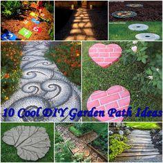 10 Cool DIY Garden Path Ideas diy