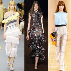 5. Ruffles Dominated The Runways - The tiered beauties ofNYFW were echoed all over the LFW runways including at Peter Pilotto, Erdem and Roksanda Illincic put their spin on the trend. Romance is officially back.