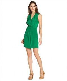 Greylin emerald green 'Camila' silk crepe sleeveless dress on WearsPress