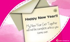 New Year Party Invitation Greeting Cards