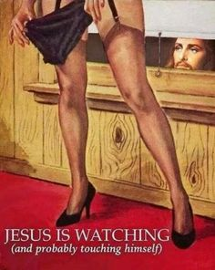 Jesus is watching>>>I can't help but pin