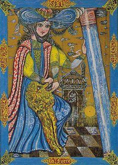 (8)  (@esotericariel) / Twitter Strength Tarot, Major Arcana, Tarot Decks, Youtube, Leone, Artwork, Tarot Cards, Painting, Twitter
