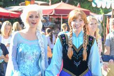 Disney Face Characters! It is Anna and Elsa! Never seen them before as real people!