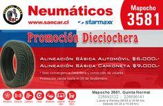 Recuerda que este mes tenemos una gran promoción! Realiza tu #alineación a un precio imperdible en Mapocho 3581, #QuintaNormal