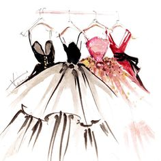 #NYFW has arrived... Searching for beautiful Spring gowns to paint!
