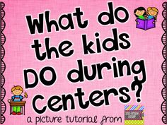 2nd Grade Stuff: What Do the Kids DO During ELA Centers? This could totally work for 3rd grade too!