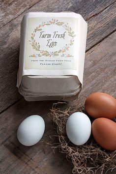 Rustic Wedding Favors: Farm Fresh Eggs | The Evermine Blog | www.evermine.com