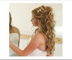 Beach waves, hair, formal hair, wedding hair