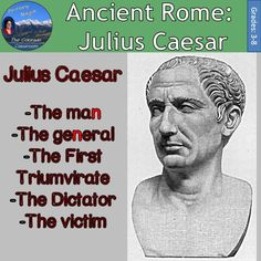 Ancient Rome: Julius Caesar will have your students create a foldable on The First Triumvirate, the secret alliance between three men destined to rule Rome for themselves. They will then complete some fill in the blank notes on this alliance before completing a foldable focused in on Julius Caesar himself.  That's two foldables and two full pages of notes in this lesson on Rome and the time of Julius Caesar as dictator.