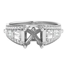3/4 ct. tw. Diamond Semi-Mount Engagement Ring in 14K White Gold