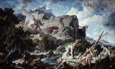 "Scene from ""The Odyssey"". 1834-36. Friedrich Preller the elder. German. 1804-1878. mural. Neues Museum. Berlin"