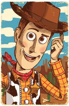 Woody from Toy Story illustration, By Jim Zahniser, Red Robot Design & Illustration
