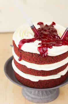 Objetivo: Cupcake Perfecto.: Red Velvet Sangriento (Ideas para Halloween, primera parte)