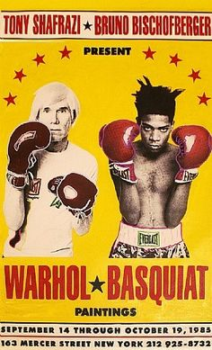 Which heavyweights would you want to see square off? : Steve Kaufman, Warhol VS Basquiat The Exhibition