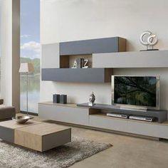 Living Room Wall Units, Living Room Tv Unit Designs, Home Living Room, Living Room Decor, Modern Tv Wall Units, Muebles Living, Tv Wall Design, Home Interior Design, Family Room