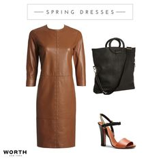 Spring 2016 leather. The perfect dress that transitions from day to evening. #fashion #leather #worthnewyork #Spring2016