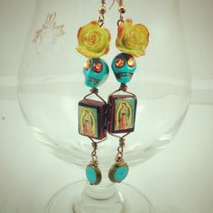 Las Damas Flores #goddesswearjewelry #artisan #jewelry #jewellery #handcrafted #fridakahlo #dayofthedead #sugarskulls #lavirgen #guadalupe #mexican #denver #local