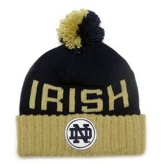 7c94e970709 Notre Dame Fighting Irish Mitchell   Ness Cuffed Knit Hat with Pom Mitchell    Ness.  23.97