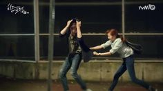 Cheese in the Trap - Seul and In Ho running in the rain. My ship has sailed! #onigirilove #citt #kdrama