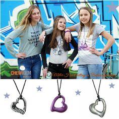 Lief en Stoer! De miller heart kettingen van Chewigem. Mooi en functioneel #kauwbehoefte #chewigem www.chewigem.nl