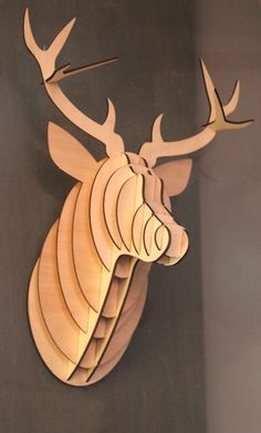 flat packed stags head