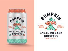 Bumpkin Craft Beer -  Bumpkin Craft Beer by Stan Aleyn for The Faces on Dribbble  - #Beer #bumpkin #craft #CraftBeeer #DrinkReecipes #HomeBreewing #Whiskey Food Packaging Design, Beverage Packaging, Bottle Packaging, Coffee Packaging, Craft Beer Gifts, Craft Beer Labels, Wine Labels, Craft Beer Brands, Grafik Design